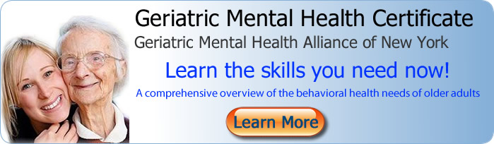 Banner Image - Geriatric Mental Health Certificate New York